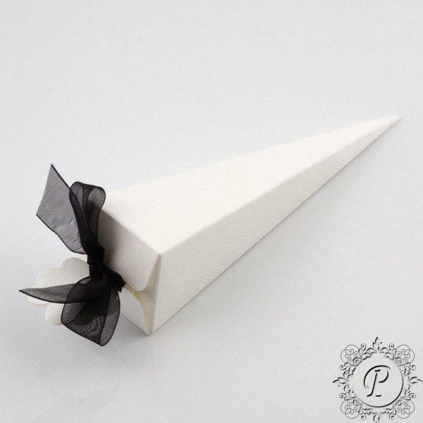 White Confetti Cone Wedding Favour