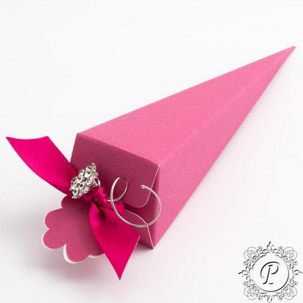 Fuchsia Confetti Cone Wedding Favour