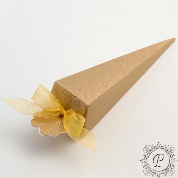 Gold Confetti Cone Wedding Favour