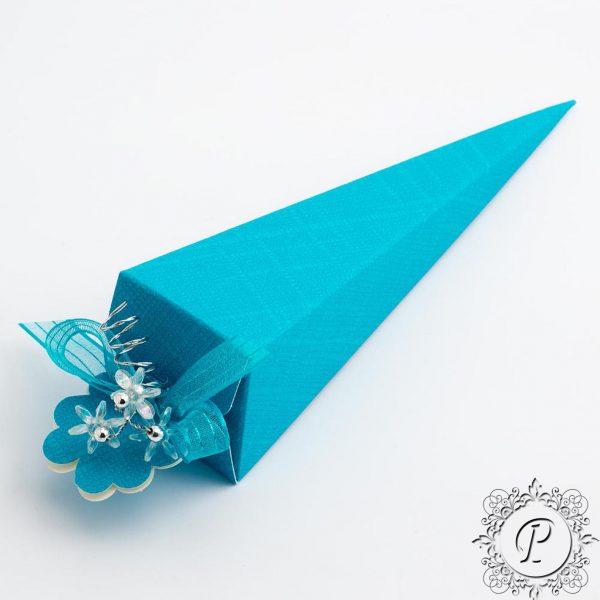 Turquoise Confetti Cone