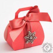 Coral Handbag Wedding Favour