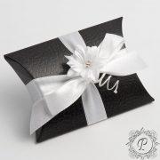 Black Pelle Pillow Wedding Favour Box
