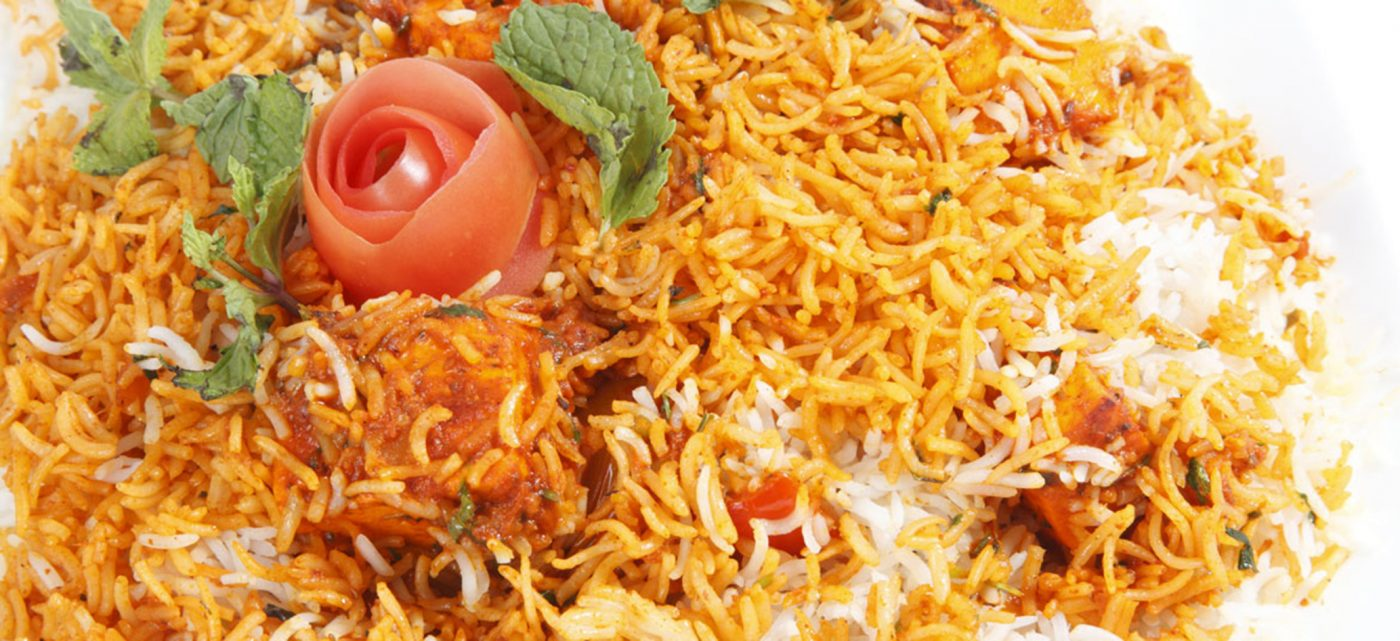 Rice dish slow cooked with lamb, chicken or vegetables and spices