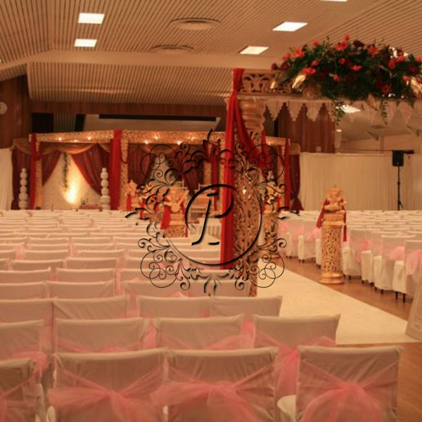 Ashika Hex Mandap with walkway and theatre style seating