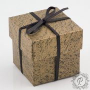 Gold & Black Cube Corperchio