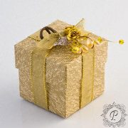 Gold & Ivory Cube Corperchio