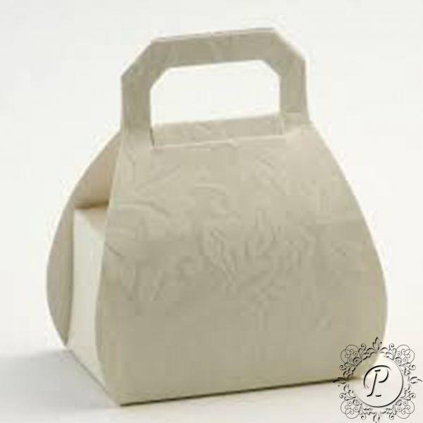 Ivory Diamante Handbag Wedding Favour Box