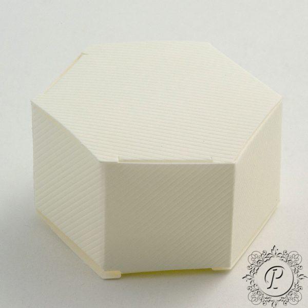 Ivory Scia Hex Astuccio Wedding Favour Box