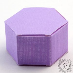 Lilac Hex Astuccio Wedding Favour Box