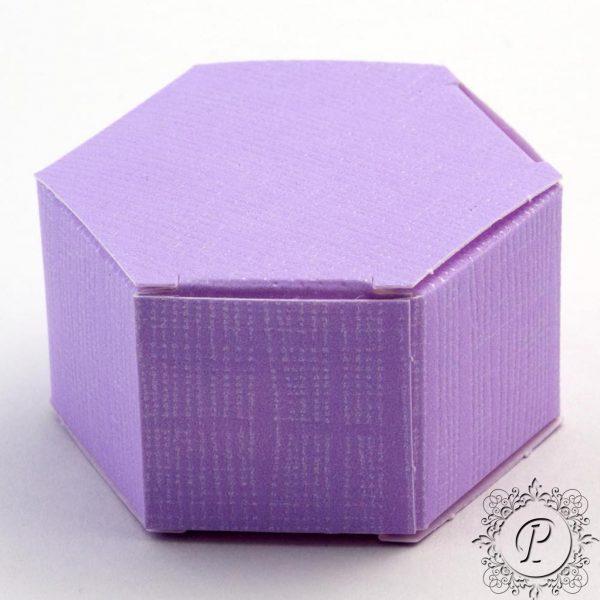 Lilac Hex Astuccio Wedding Favour Box