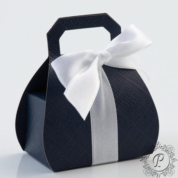 Navy Blue handbag Wedding Favour Box