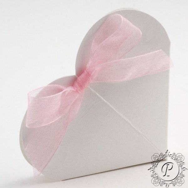 Pearla Heart Wedding Favour Box