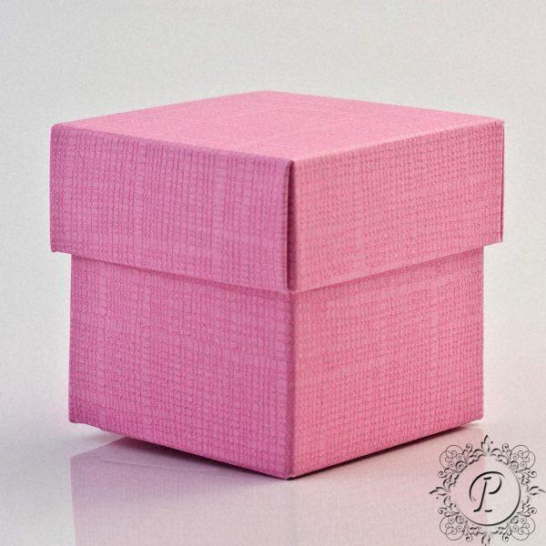 Pink Cube Corpercio Wedding Favour Box