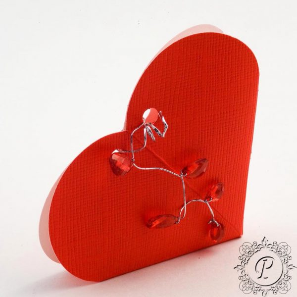 Red Heart Wedding Favour Box