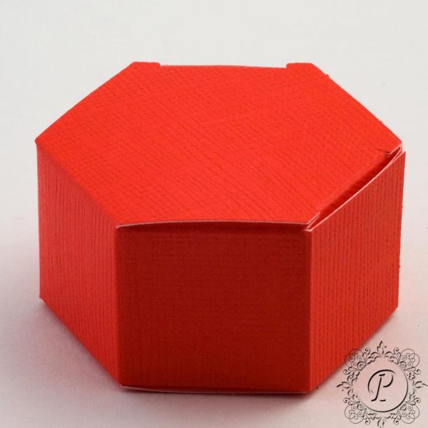 Red Hex Astuccio Wedding Favour Box