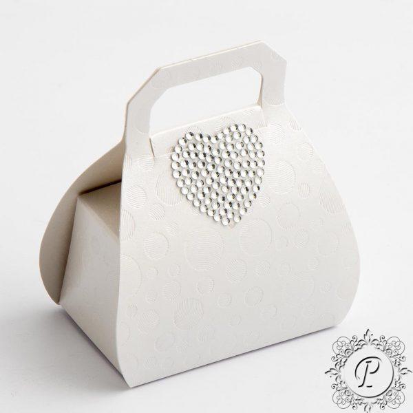 Sphere Pearla Handbag Wedding Favour Box