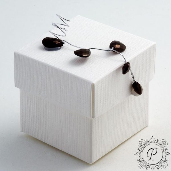White Cube Corpercio Wedding Favour Box