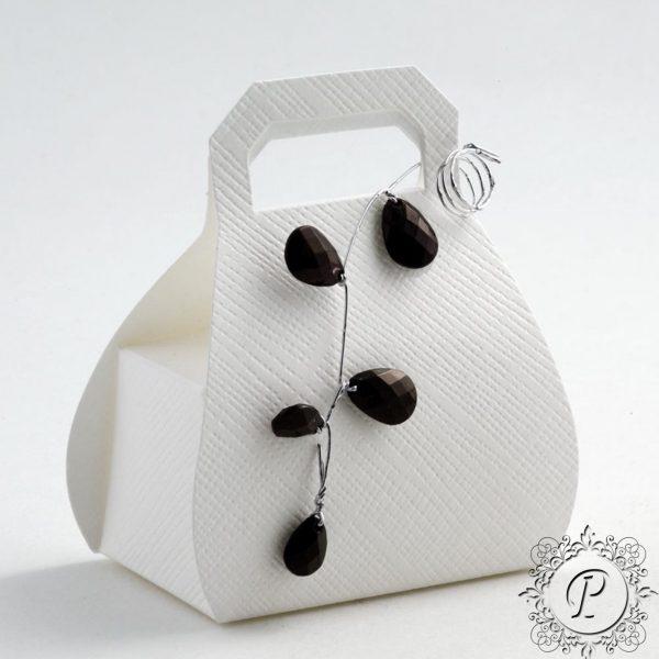 White Handbag Wedding Favour Box