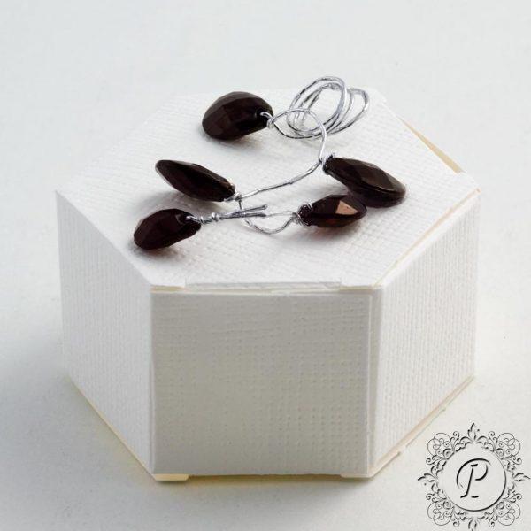 White Hex Astuccio Wedding Favour Box
