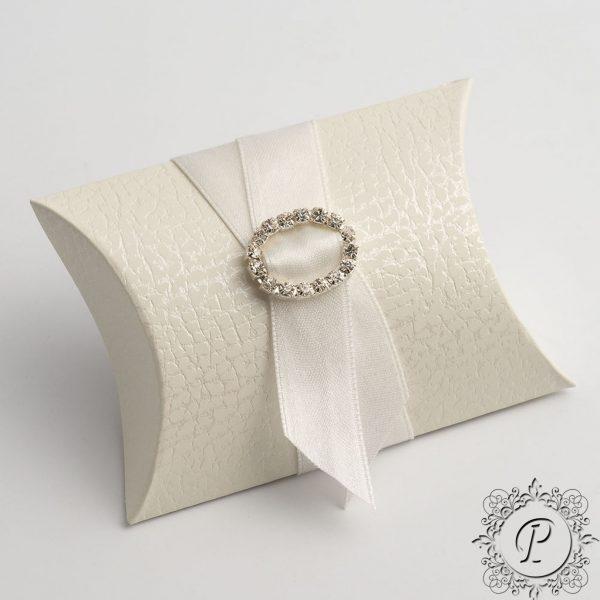 White Pelle Pillow Bustina Wedding Favour Box